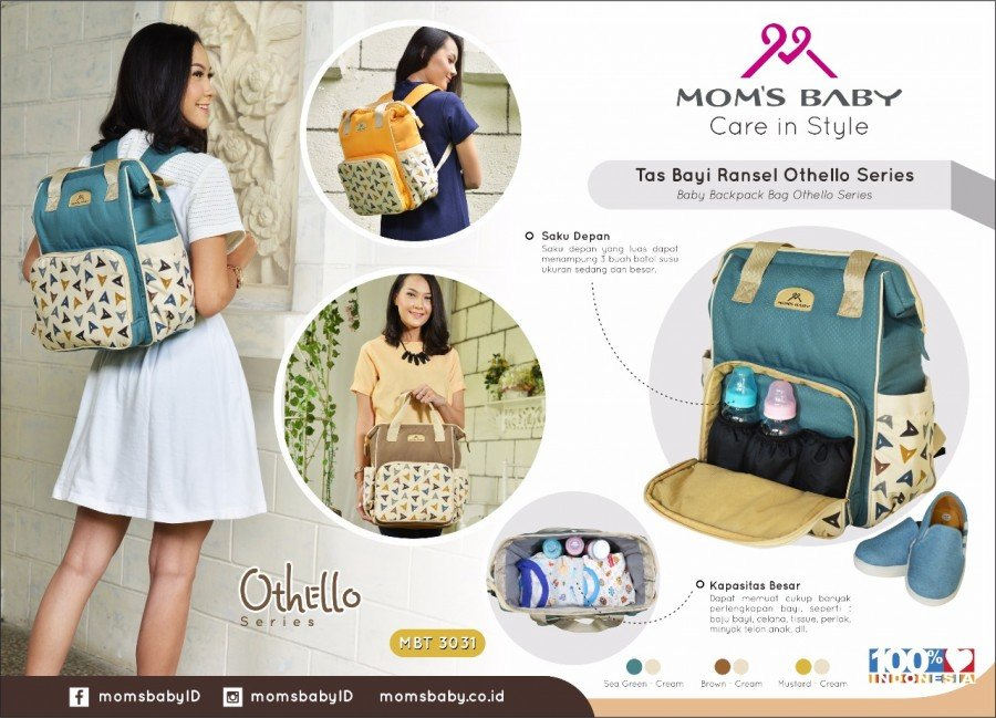 Tas Bayi Ransel Othello Series Moms Baby MBT3031 - Gold