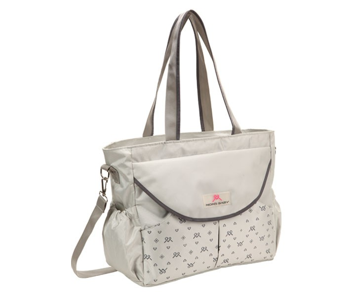 MBT7106 Tas Bayi Moms Baby Mom Bag Chic Series Gray