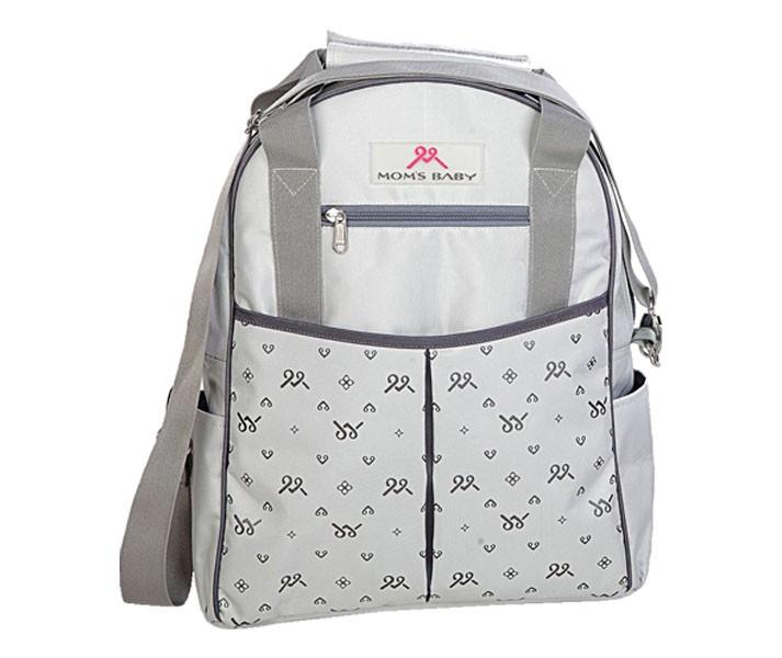 MBT7108 Tas Bayi Ransel Moms Baby Back Pack Chic Series Gray