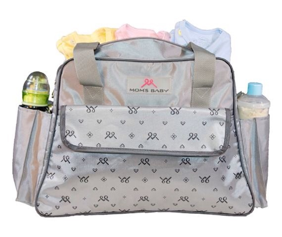 MBT7107 Tas Bayi Moms Baby Travel Bag Chic Series Gray