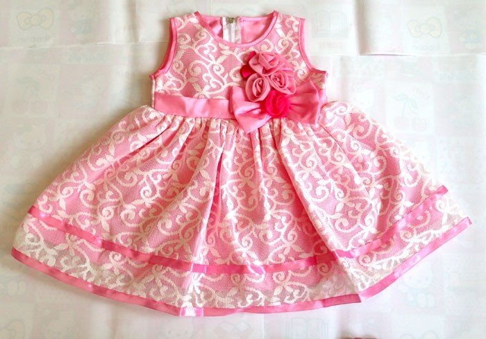 Terusan Gaun Pita Pink 16060075