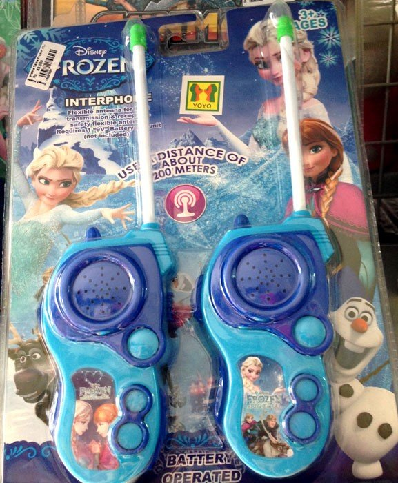 Walkie Talkies Frozen