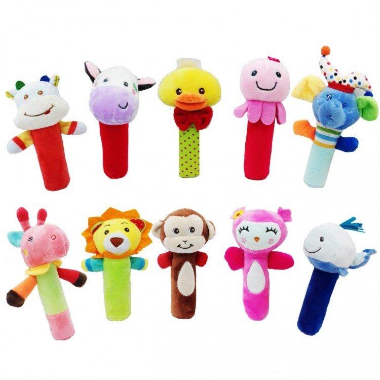 Rattle Stick Animals 16110031