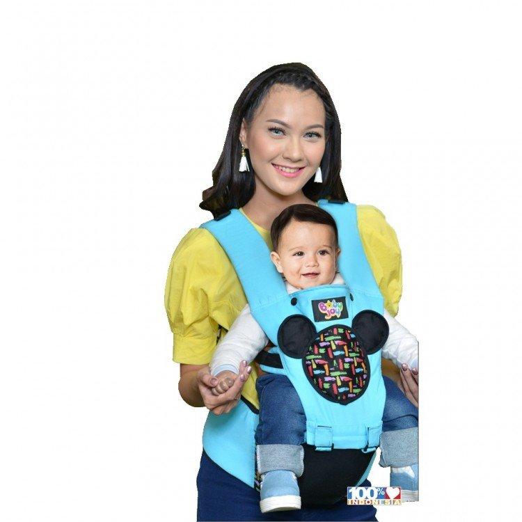 Gendongan Bayi Hipseat Millie Series Baby Joy BJG3025 - Biru