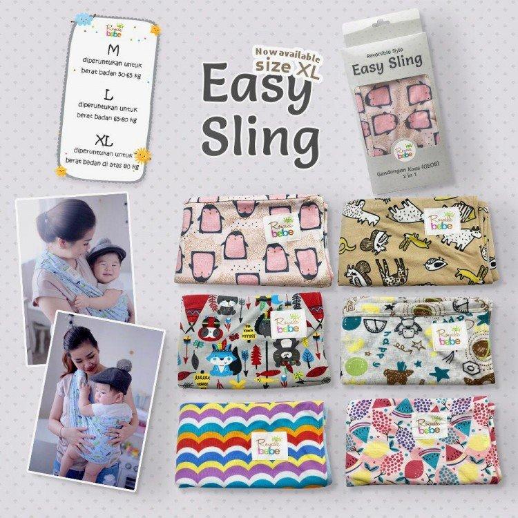 Gendongan Bayi Kaos Easy Sling M (Geos)