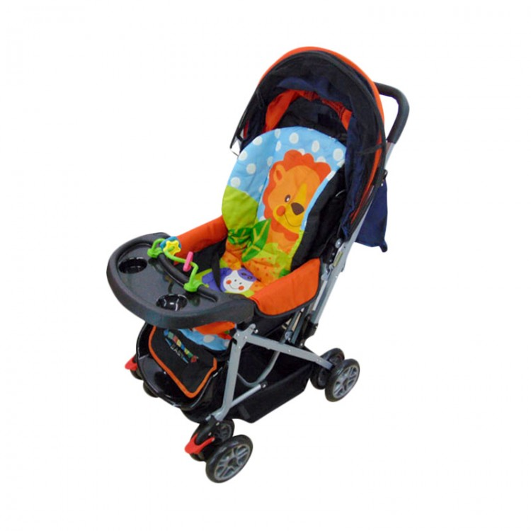 Baby Stroller Pliko Creative Classic 218 - Orange