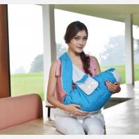 Gendongan Bayi Samping Saku Linea Series Moms Baby MBG1010 - Biru