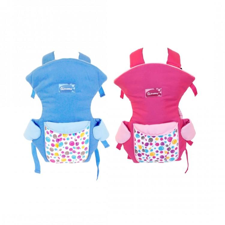 Gendongan Bayi Ransel 3 Fungsi + Saku Snobby Happy Bubble TPG2243 - Blue