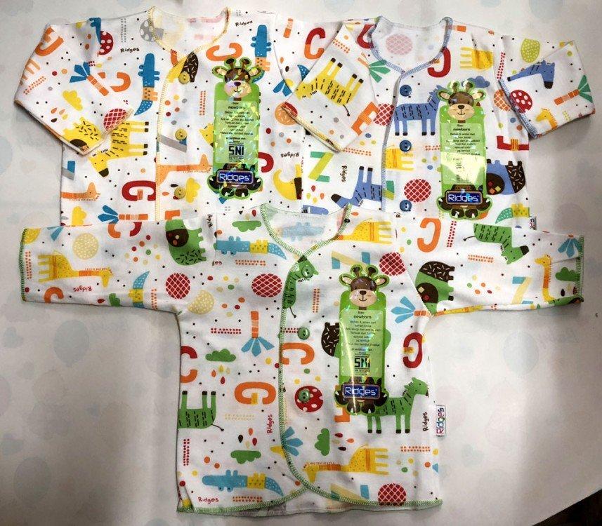 Baju Baby Panjang Ridges NewBorn Zeg Block 18100171