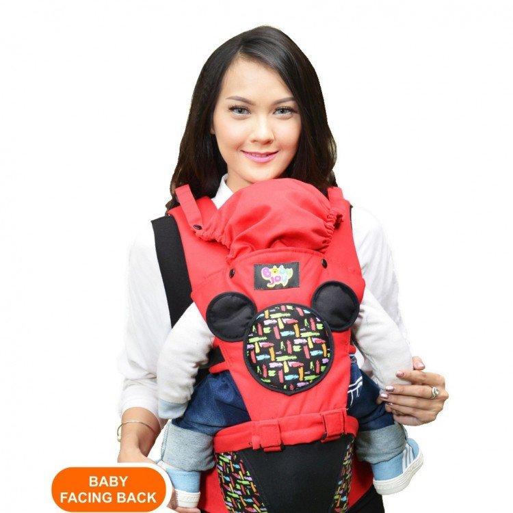 Gendongan Bayi Hipseat Millie Series Baby Joy BJG3025 - Merah