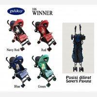 Baby Stroller Pliko Buggy Winner - Hijau