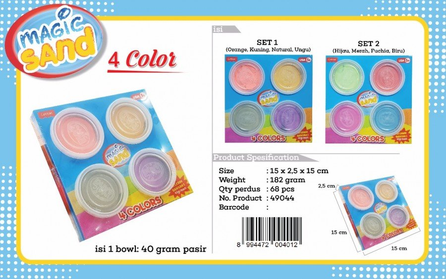 Fun Doh Magic Sand 4 Colors 18120032