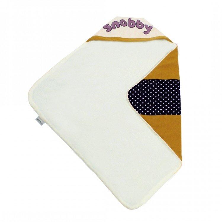 Gendongan Bayi / Blanket / Selimut Bayi Topi Print Awesome Dotty Snobby TPB1431 - Gold