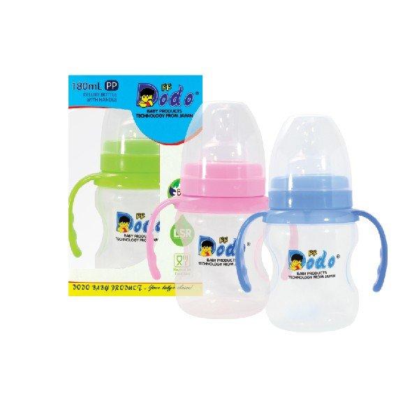 Botol Susu Dodo PP Deluxe Wide Neck With Handle 180ml