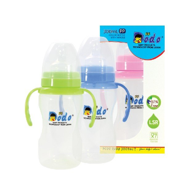 Botol Susu Dodo PP Deluxe Wide Neck With Handle 300ml