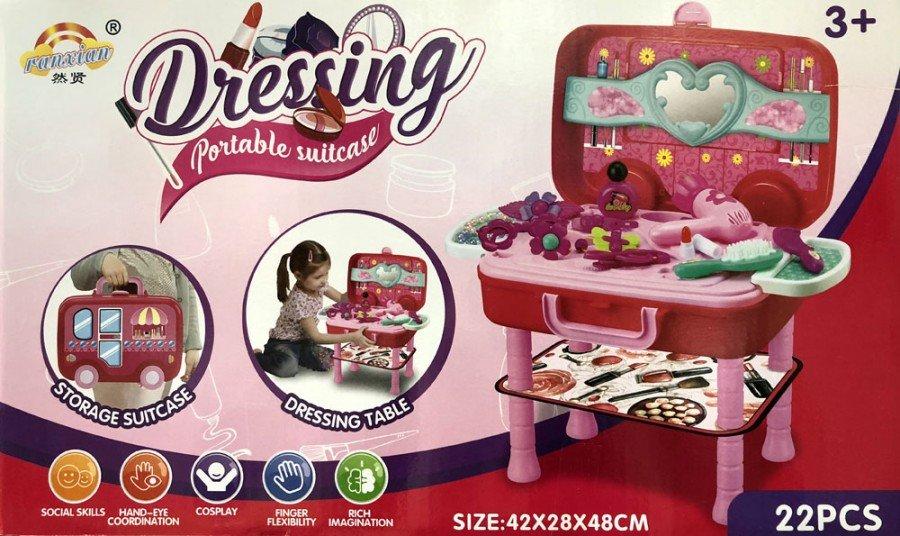 Mainan Make Up Dressing Portable Suitcase 18120107
