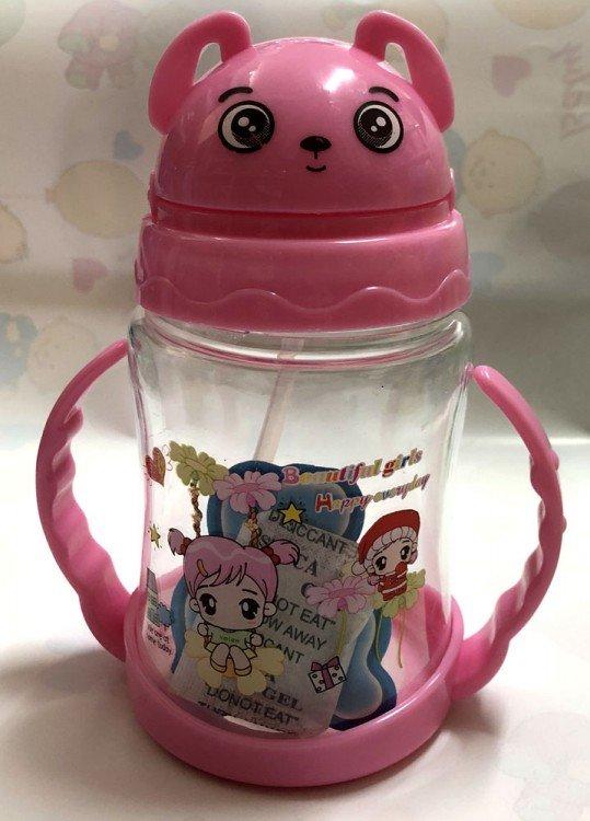 Botol Minum Sedotan Pink 18120159
