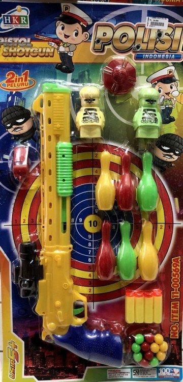 Mainan Pistol Shoot Gun Bowling Polisi 18120117