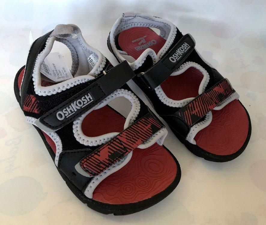 Sepatu Anak OshKosh with ToeZone Gordon Td Black / Red 19010026