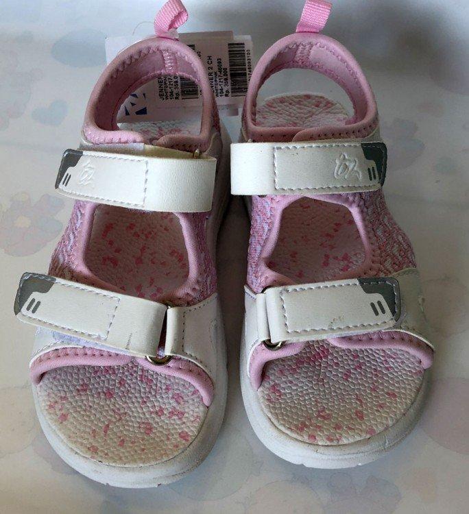 Sepatu Anak OshKosh with ToeZone Jenner Ch White / Pink 19010027