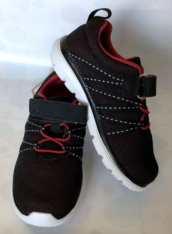 Sepatu Anak ToeZone Topher Black Red 19010038