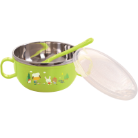 Mangkok Baby Safe Stainless Bowl With Cover 240 ml