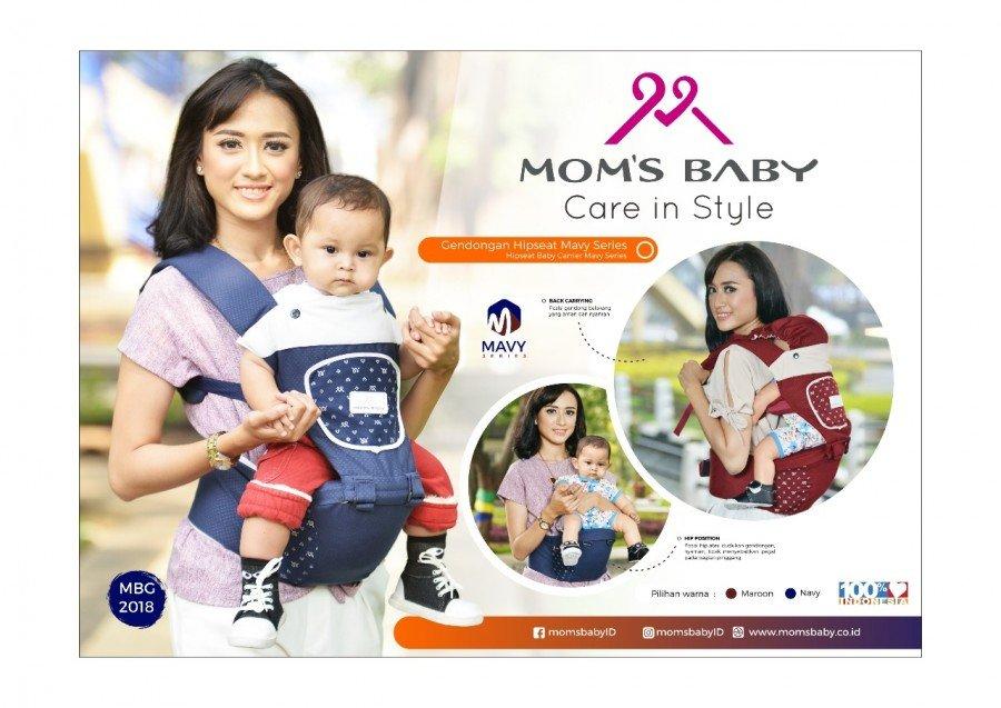 Gendongan Bayi Hipseat Mavy Series Moms Baby MBG2018 - Dongker