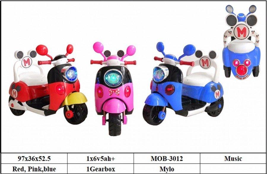 Motor Aki Mickey MOB-3012 Merah