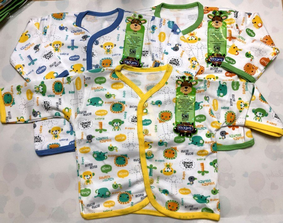 Baju Baby Panjang Ridges M Animal Sounds 19030012