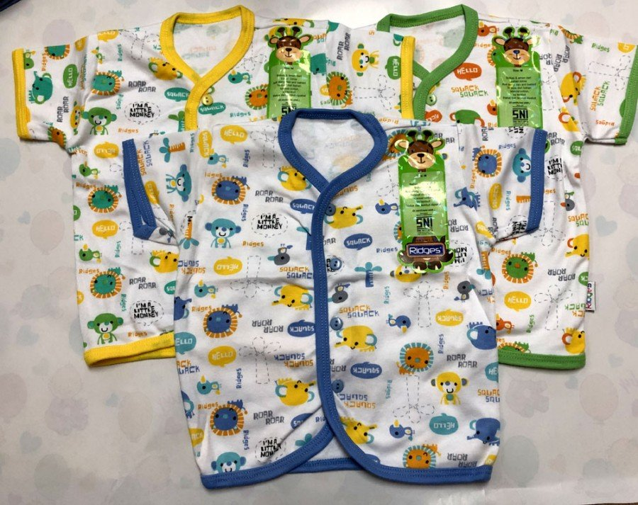 Baju Baby Pendek Ridges L Animal Sounds 19030017