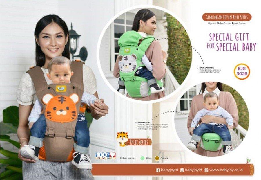 Gendongan Bayi Hipseat Rylee Series Baby Joy BJG3026 - Green