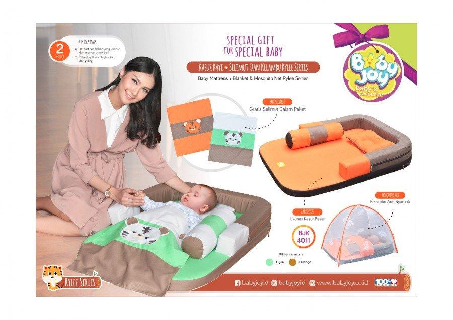 Kasur Bayi + Selimut dan Kelambu Rylee Series BJK4011 - Orange