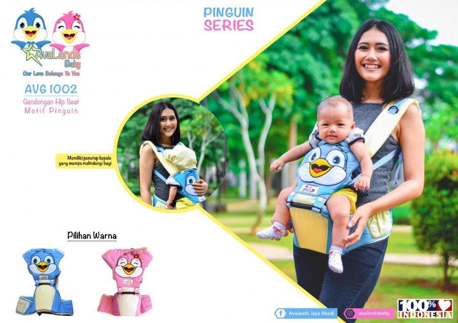 Gendongan Bayi Hipseat Pinguin Series Avalands AVG1002 - Pink 19040031