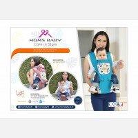 Gendongan Bayi Hipseat Leaf Series Moms Baby MBG2017 - Blue
