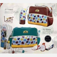 Tas Bayi Medium Moms Baby Leaf Series MBT3033 - Blue