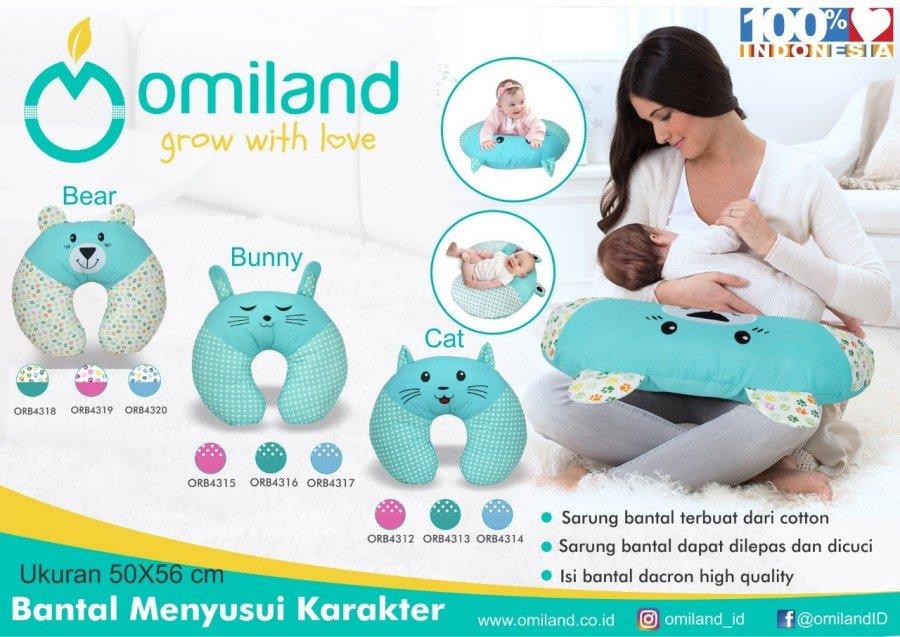 Bantal Menyusui Omiland Bunny Hijau ORB4316