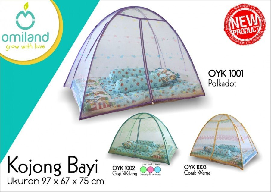 Kelambu / Kojong Bayi Omiland Warna Biru OYK1002