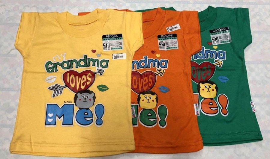 Atasan Kaos Anak Ridges Grandma Loves Me L 19050065