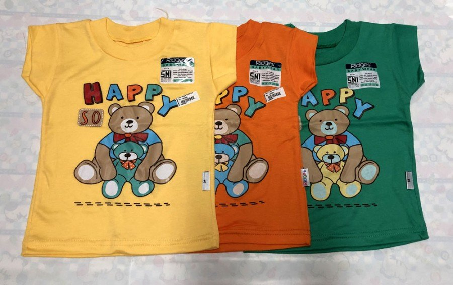 Atasan Kaos Anak Ridges Happy So L 19050057