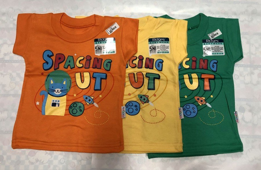 Atasan Kaos Anak Ridges Spacing Out XL 19050062