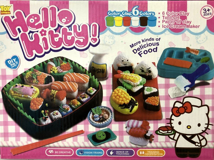 Mainan Doh / Color Clay 6 Colors Sushi Hello Kitty 19050085