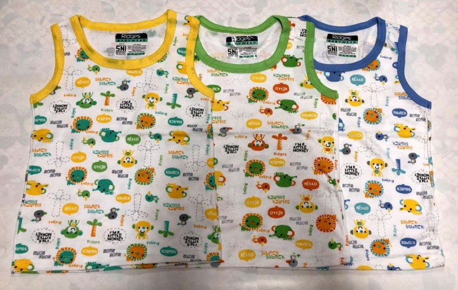 Singlet Anak Ridges New Animal Sound L 19050161