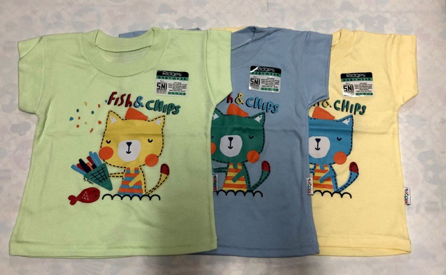 Atasan Kaos Anak Ridges Fish and Chips XL 19050122