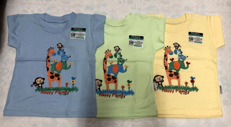 Atasan Kaos Anak Ridges Happy Family L 19050133