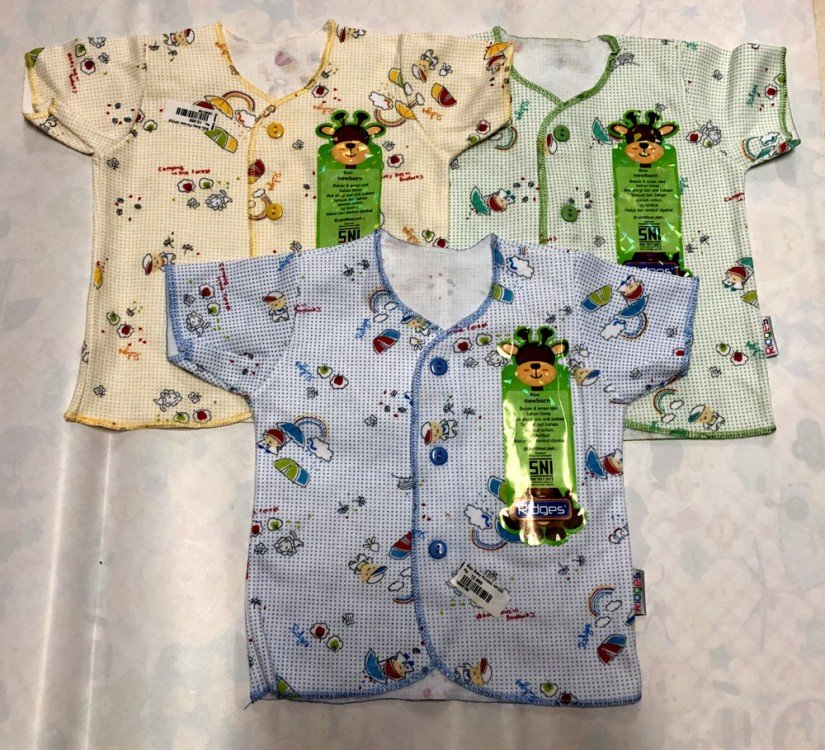 Baju Baby Pendek Ridges Newborn Teddy Bears Rainbow 19050188
