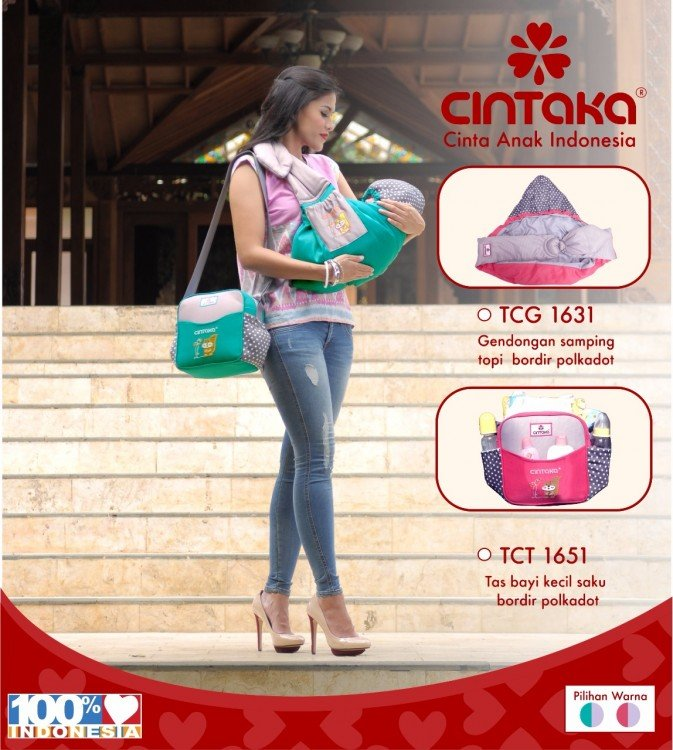 Tas Bayi Kecil Cintaka Seri Polkadot TCT1651 - Pink