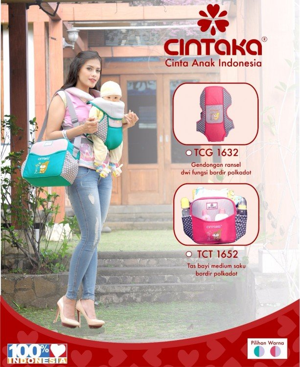 Tas Bayi Sedang Cintaka Seri Polkadot TCT1652 - Pink