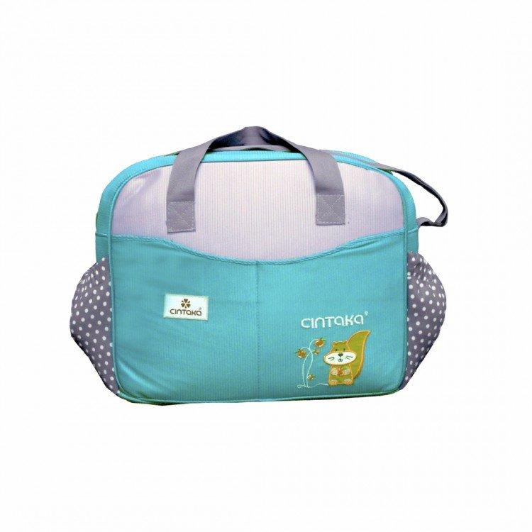 Tas Bayi Besar Cintaka Seri Polkadot TCT1653 - Biru