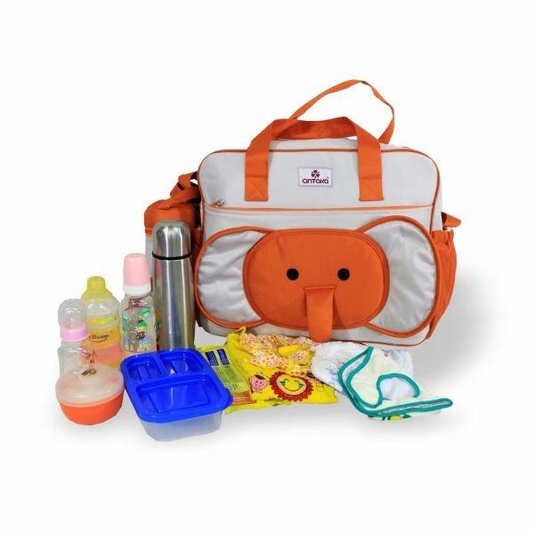 Tas Bayi Besar Cintaka Seri Gajah TCT2252 - Orange