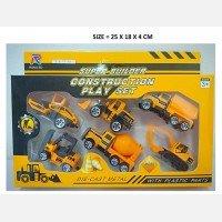 Mainan Trucks Engineering Die Cast Metal 19100062